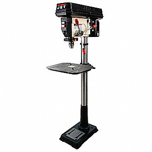 "3/4 Motor HP Floor Drill Press, Belt Drive Type, 16-1/2"" Swing, 115 Voltage"