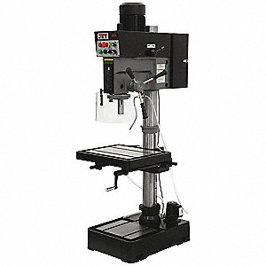 "2 Motor HP Floor Drill Press, Belt Drive Type, 20"" Swing, 240 Voltage"