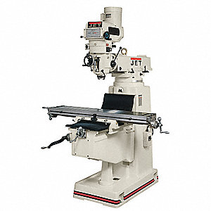 Variable Speed Milling Machine,  Variable Speed R8,  10 x 50 Table Size (In.)