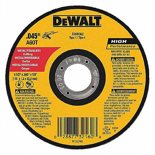 Dewalt Disco De Corte Tipo 1 4 1 2 X 045 Pulg Discos