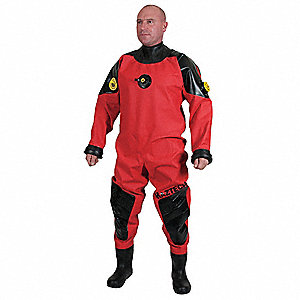 Light Weight Hazmat Dry Suit,Size XL W