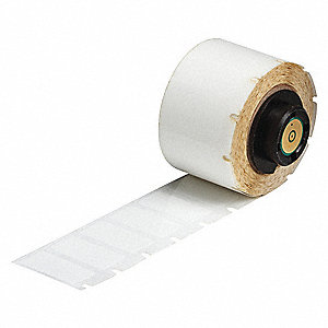 "Thermal Transfer Label, White, 1""W x 1/2"""