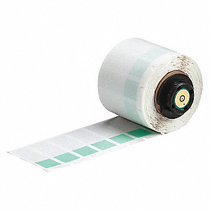 "Thermal Transfer Label, Green/Translucent, 1/2""W x 1-1/2"""