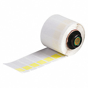"Thermal Transfer Label, Yellow/Translucent, 1/2""W x 1-1/2"""