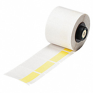 "Thermal Transfer Label, Yellow/Translucent, 1-1/2""W x 1-1/2"""