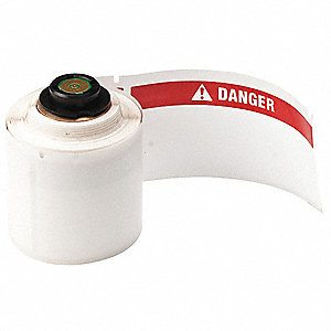 "Thermal Transfer Label, White, 4""W x 1-29/32"""