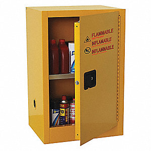 Beautiful Flammable Safety Cabinet,16 Gal.,Yellow