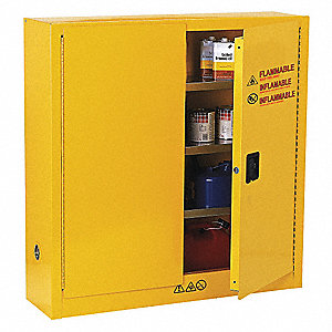 Flammable Safety Cabinet,24 Gal.,Yellow