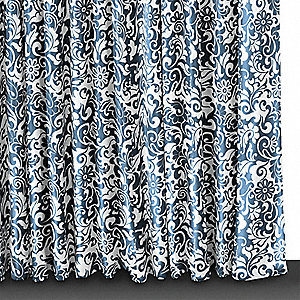 "72"" Polyester Shower Curtain, Indigo Blue, Standard Grommets"