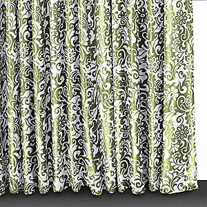 72 x 72 Polyester Shower Curtain, Spring Green Mantilla