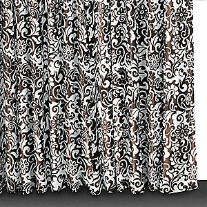 72 x 72 Polyester Shower Curtain, Mocha Brown Mantilla