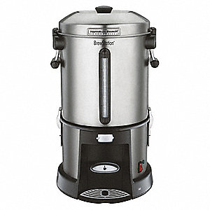 Coffee Urn,65 Cup,Black/Silver