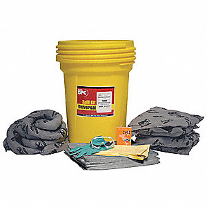 Spill Kit/Station, Drum, Universal, 36 gal.