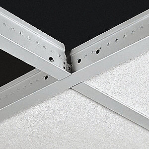 "Ceiling Tile Suspension System Cross Tee, 2"" x 15/16"" x 48"", White, 1EA"