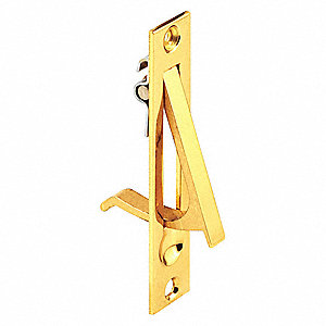 Pocket Door Pull,  Sliding Door,  Nylon,  Brass Plated,  3-53/64 Length (In.),  3-13/16 Width (In.)