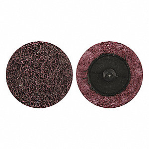"2"" Non-Woven Quick Change Disc, TR Roll-On/Off Type 3, 80, Coarse, Aluminum Oxide, 1 EA"