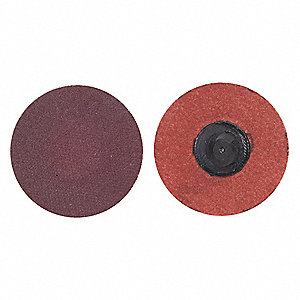 "3"" Coated Quick Change Disc, TR Roll-On/Off Type 3, 24, Extra Coarse, Aluminum Oxide, 50 PK"