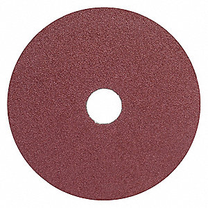 "5"" Coated Fiber Disc, 7/8"" Mounting Hole Size, Coarse, 50 Grit Aluminum Oxide, 25 PK"