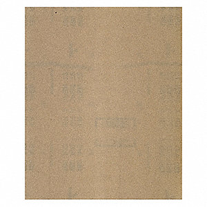 "Very Fine Aluminum Oxide Sanding Sheet, 220 Grit, 11"" L X 9"" W, Backing Weight : A, 100 PK"