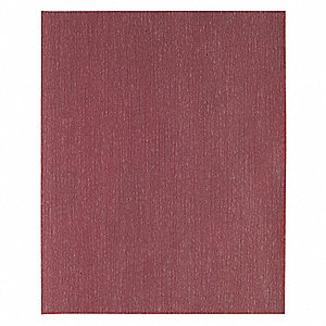 "Very Fine Aluminum Oxide Sanding Sheet, P180 Grit, 11"" L X 9"" W, Backing Weight : B, 100 PK"