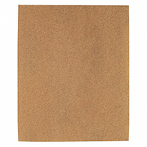 "Very Fine Garnet Sanding Sheet, 180 Grit, 11"" L X 9"" W, Backing Weight : A, 100 PK"