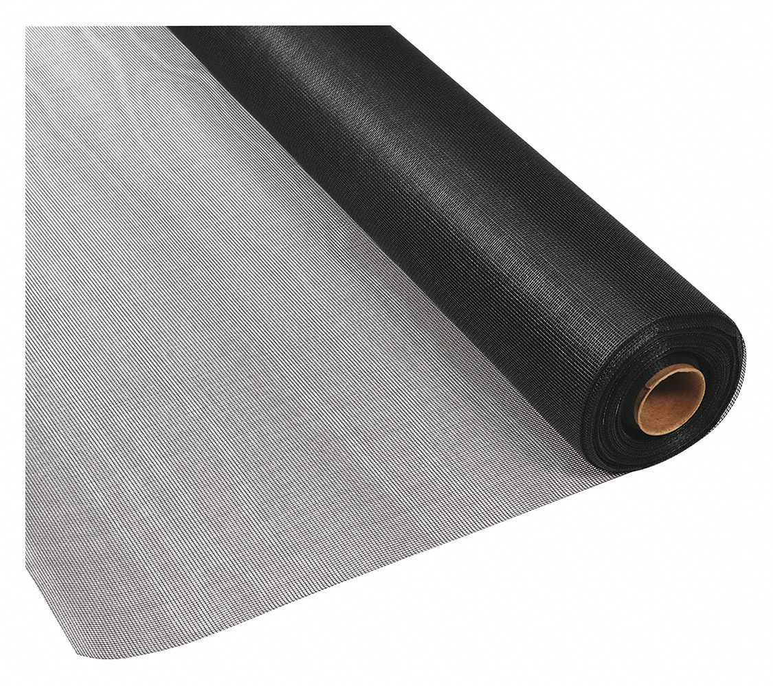 Screen Charcoal,  Black,  100 ft Length,  36 in Width