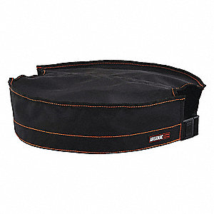 "Black Bucket Top, Polyester, 16"" Length, 16"" Width"
