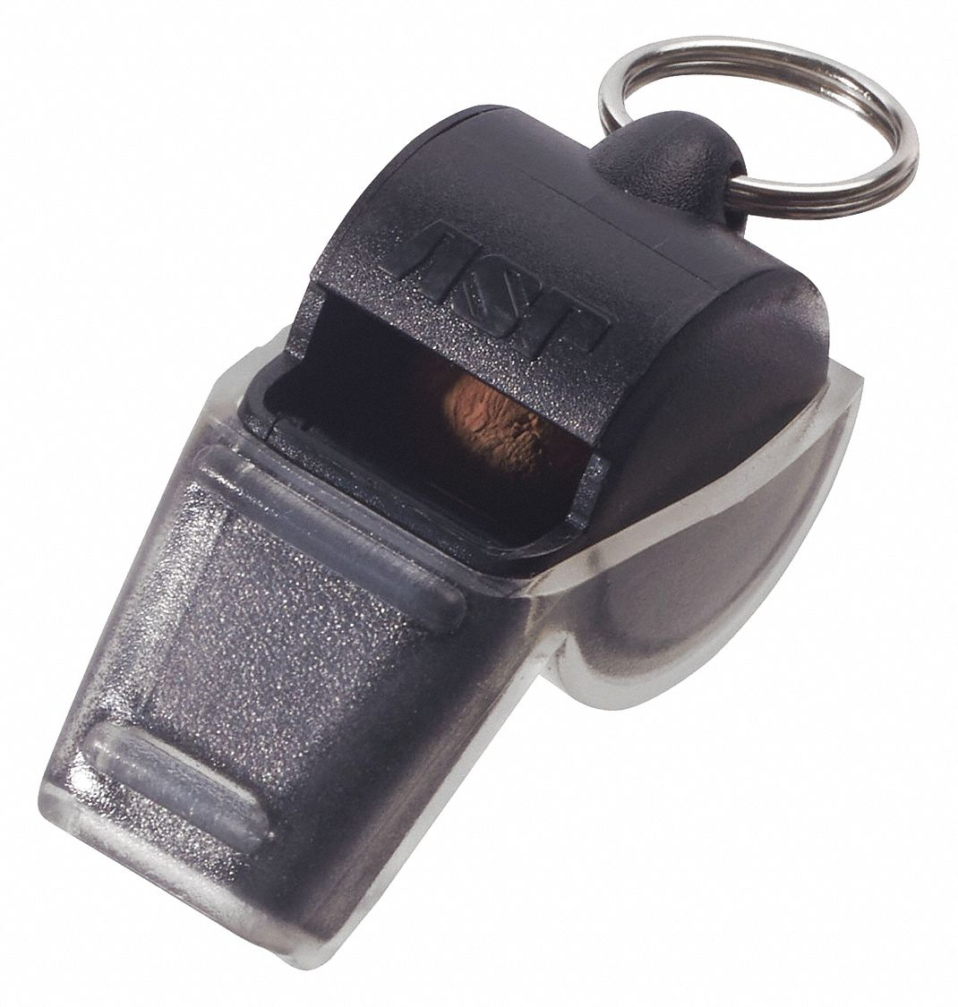 Polymer Alert Whistle,  Black,  Includes Tooth Guard