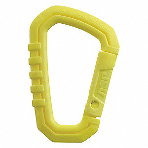 "Mini Carabiner,  Polymer,  3/4"" Gate Opening,  2-1/2"" Length,  Auto-Lock,  110 lb. Tensile Strength"