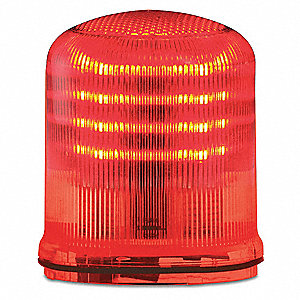 Beacon Warning Light,  LED,  12 to 24VAC/DC or 120 to 240VAC,  Flashes per Minute Various