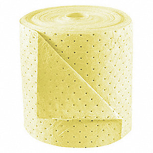 150 ft. Absorbent Roll, Fluids Absorbed: Chemical, Hazmat, Heavy, 38 gal., 2 PK