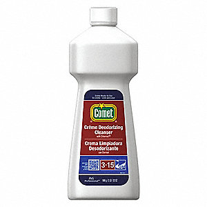 Bathroom Cleaner, 32 oz. Bottle, Unscented Creme, Ready to Use, 10 PK