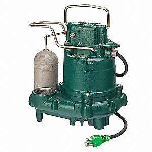 1/3 HP Submersible Sump Pump, Integral Switch Type, Cast Iron Base Material