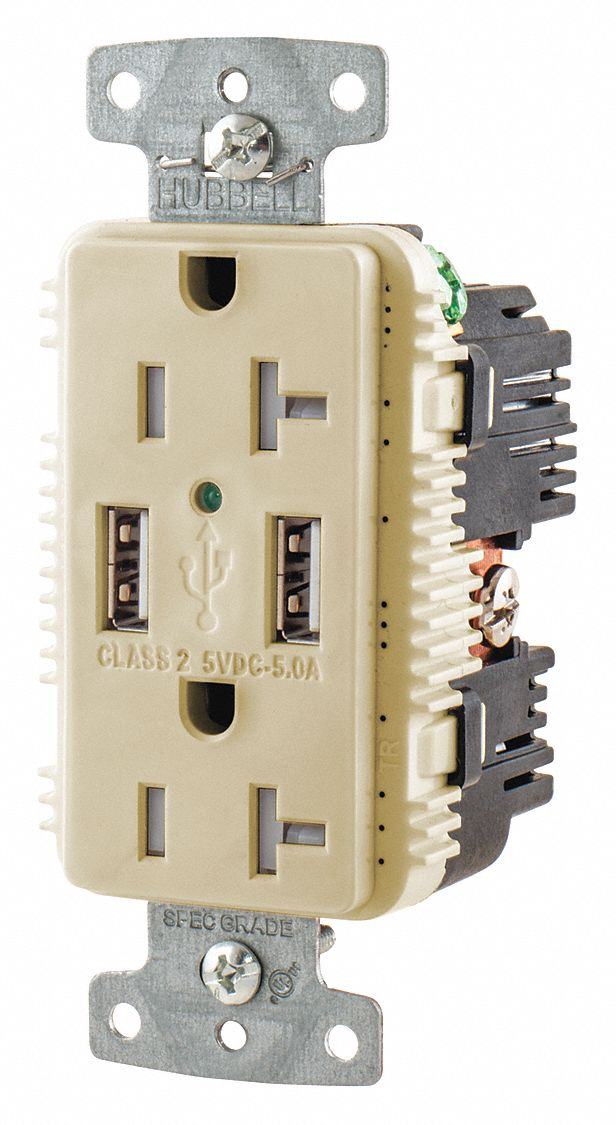 hubbell wiring device kellems 20a commercial usb charger receptacle rh grainger com