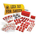 Portable Lockout Kit, Filled, Electrical Lockout, Bag, Black, Yellow