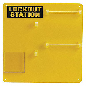 "Padlock Station, Unfilled, General Lockout, 13-1/2"" x 13-1/2"""