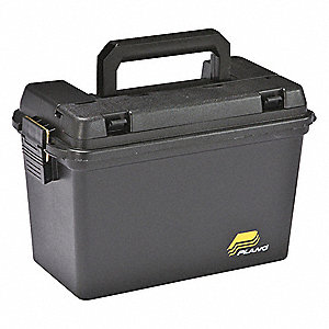 "Portable Tool Box, 10""H x 8""W x 15""D, 625 cu. in., Black"