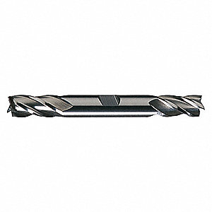 Square End Mill,  Weldon Flat,  High Speed Steel,  Bright (Uncoated)