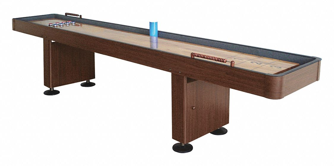 Walnut Shuffleboard Table, Medium Density Fiberboard, 8 ft Playfield Length