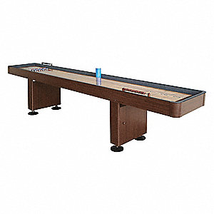 Shuffleboard Table,Walnut Finish