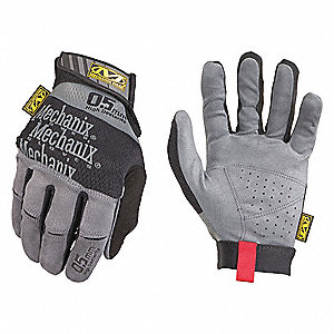 Mechanics,  Mechanics Gloves,  XL,  Black/Gray,  Synthetic Suede Palm Material,  1 PR