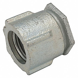 "3/4"" Threaded IMC, Rigid Coupling, Three-piece, 1-1/8"" Overall Length"