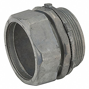Compression Connector,  For Conduit Type EMT,  Conduit Fitting Type Connector