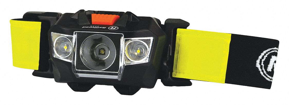 LED Headlamp, Plastic, 50,000 hr Lamp Life, Maximum Lumens Output: 100, Black