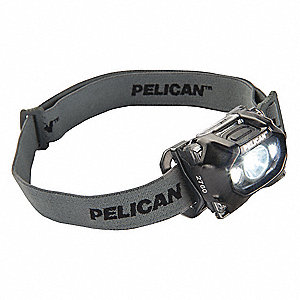 LED Headlamp, Plastic, 50,000 hr. Lamp Life, Maximum Lumens Output: 204, Black