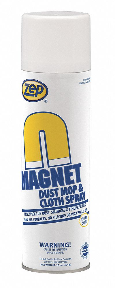 Duster and Dust Mop Treatment, Lemon Fragrance, 20 oz  Aerosol Can, 12 PK