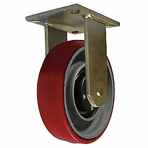 "8"" Light-Medium Duty Rigid Plate Caster, 750 lb. Load Rating"