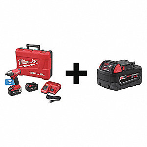 "Cordless Impact Wrench Kit,1/2"" Drive"