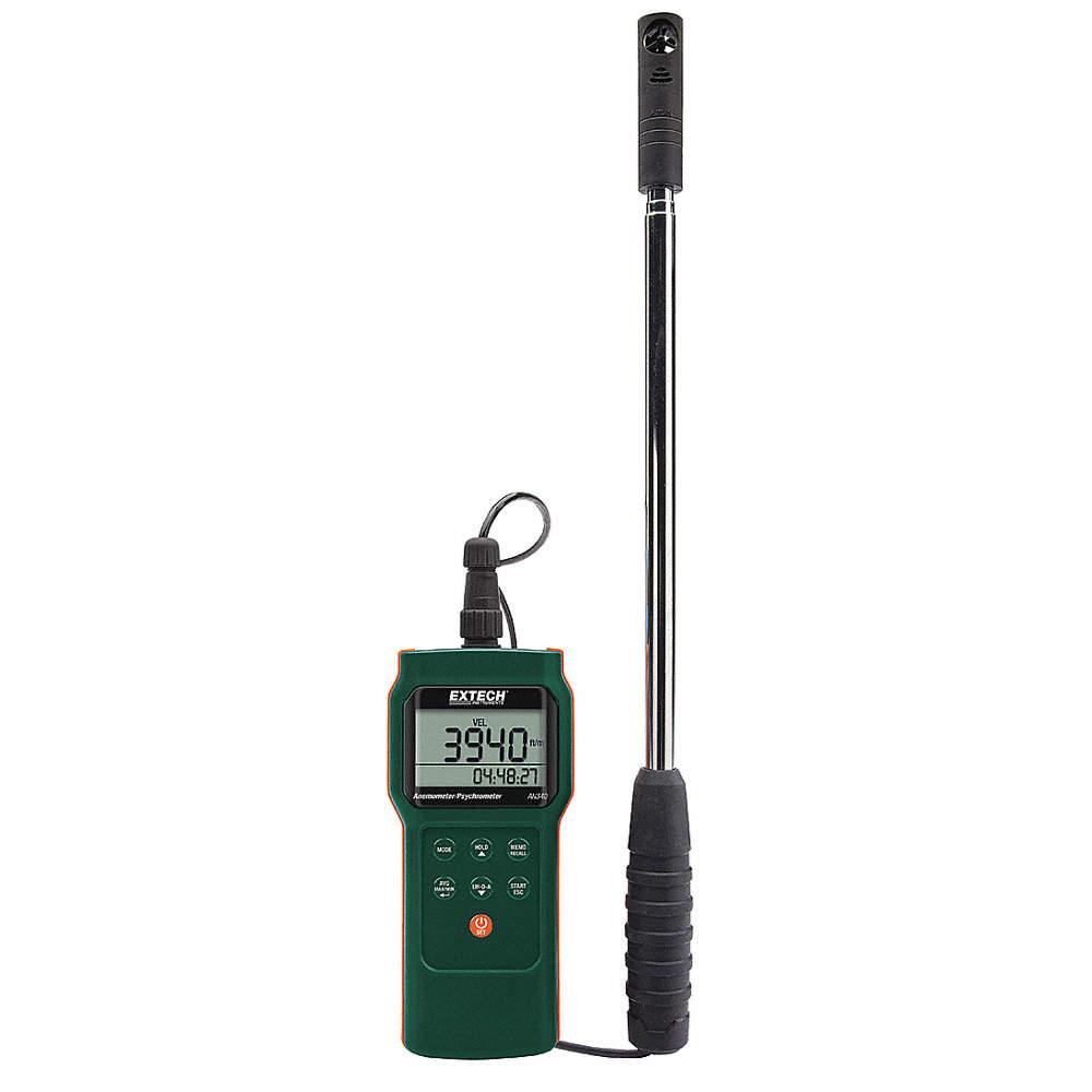 Anemómetro,98 a 3937ppm,0.5 a20 MPS