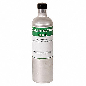 Calibration Gas,29L,H2S,CO,Methane,O2,N2